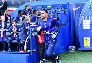 Keylor Navas con el PSG. Twitter del Paris Saint Germain
