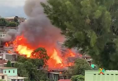 Incendio en Barrio Cuba