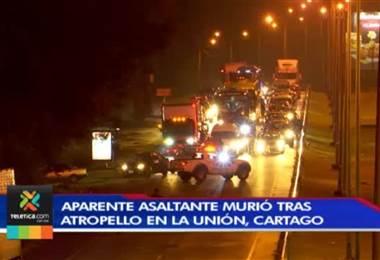 Hombre muere tras ser atropellado por un vehículo luego de asaltar a peatón en Cartago