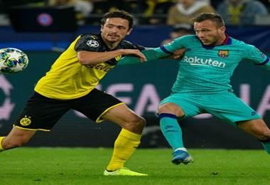 Barcelona empató sin goles ante el Dortmund | AFP