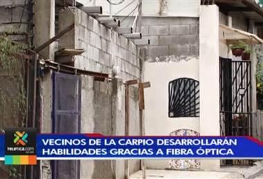 Vecinos de La Carpio cuentan desde hoy con internet por fibra óptica