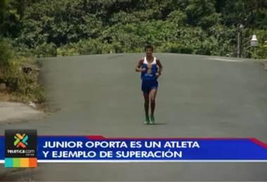 Junior Oporta: ejemplo de superación que lo lleva a brillar en el atletismo