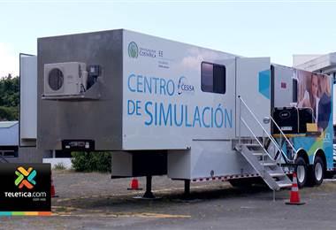 Hospital Geriátrico utiliza desde este miércoles centro de simulación móvil de la UCR
