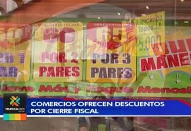 Comercios ofrecen descuentos y promociones debido al cierre fiscal