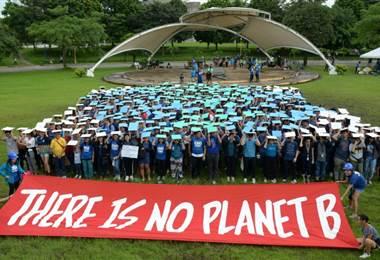 Manifestación de estudiantes por el cambio climático