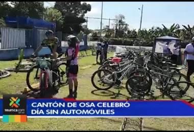 Comunidad de Osa celebró el día sin automóviles promoviendo uso de bicicletas y reciclaje