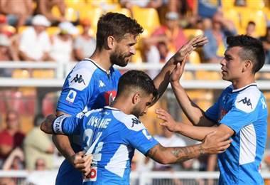 Fernando Llorente fue titular con el Nápoles | Nápoli en Twitter