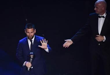 Lionel Messi recibió el premio The Best 2019| AFP