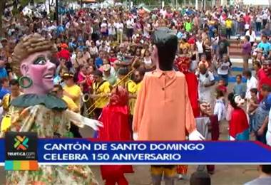 Santo Domingo celebró a ritmo de cimarrona su 150 aniversario