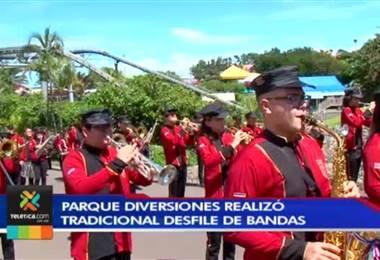 Parque de Diversiones realizó su tradicional desfile de bandas por el mes de la patria