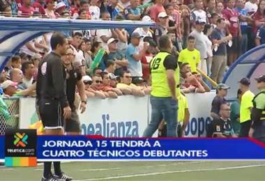 Jornada 15 tendrá a cuatro técnicos debutantes