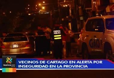 Alcalde de Cartago reclama falta de apoyo del Gobierno para frenar inseguridad en la provincia