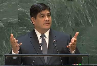 El presidente Carlos Alvarado ha sido el principal vocero del llamado plan salvamento