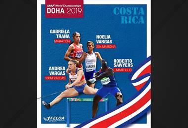 Ticos en el Mundial de atletismo en Doha