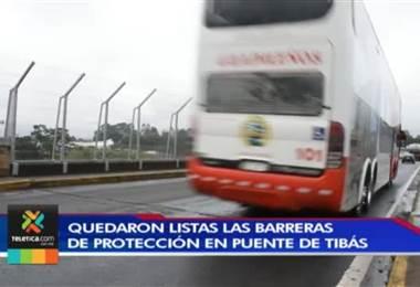 Barreras de protección en 'puente del Saprissa' ya están listas