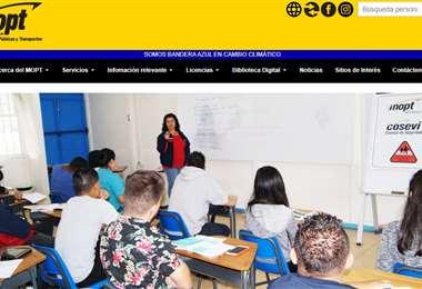 MOPT página web