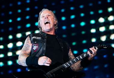 El vocalista y guitarrista de Metallica, James Hetfield |AFP.