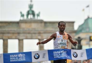 Kenenisa Bekele ganó Maratón de Berlín 2019 | AFP