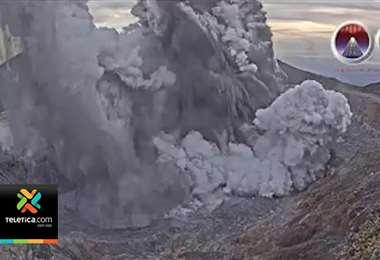 Actividad registrada en el Volcán Poás este lunes obliga nuevamente al cierre del acceso al coloso