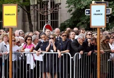 Familias dolientes accidente Air France