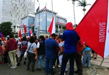 Huelga de los sindicatos de educación.