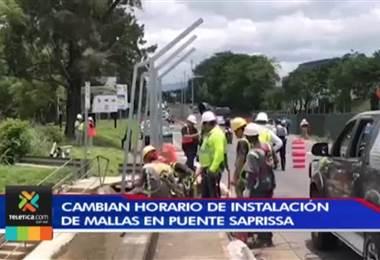Conavi ajusta el horario de instalación de las mallas en el puente del Saprissa