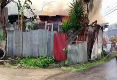 Incendio en Desamparados