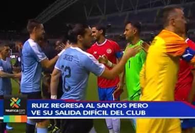 Bryan Ruiz regresa al Santos de Brasil pero ve difícil su salida del club