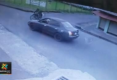 Accidente moto-carro Guápiles