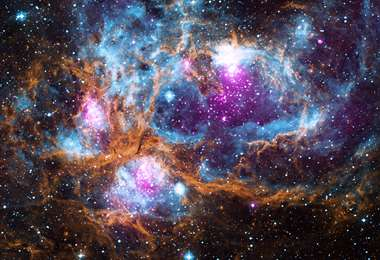 Fotografía: NASA/CXC/PSU/L. Townsley et al./UKIRT/JPL/Caltech