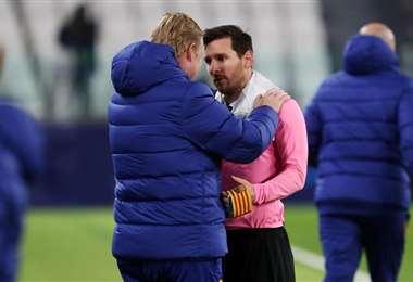 Koeman y Messi   FCBarcelona.com