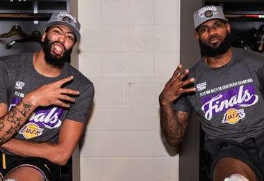 LeBron James y Anthony Davis.