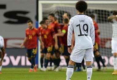 España-Alemania. AFP