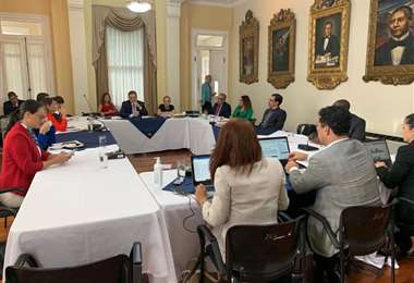 La ministra de Trabajo se reunió esta tarde con los diputados. Cortesía PLN