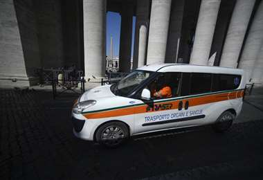 Ambulancia en Italia. AFP