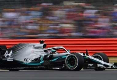 Lewis Hamilton en Silverstone. AFP