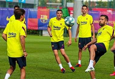 Entrenamiento Barcelona. Facebook