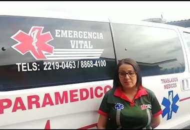 Cortesía Ana Corrales, paramédica