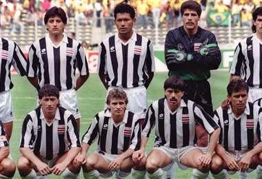 Costa Rica en Italia 90. AFP
