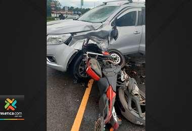 Motociclista fallecido en Pérez Zeledón