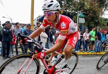 Ciclista Kevin Rivera.
