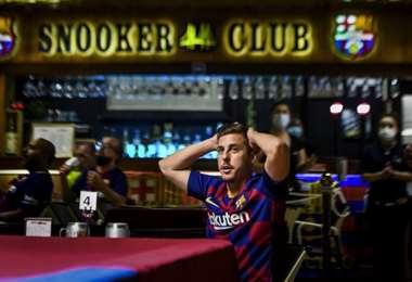 Seguidores del Barcelona. AFP