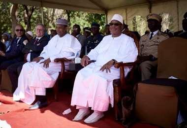 Ibrahim Boubacar Keïta, presidente de Malí y primer ministro Boubou Cissé, 2019