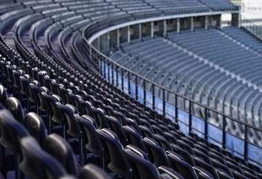 Estadio sin público. AFP