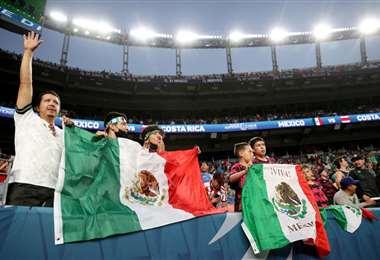 Aficionados mexicanos. AFP