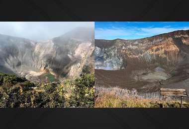 Volcán Irazú (izquierda) / Volcán Turrialba (derecha)